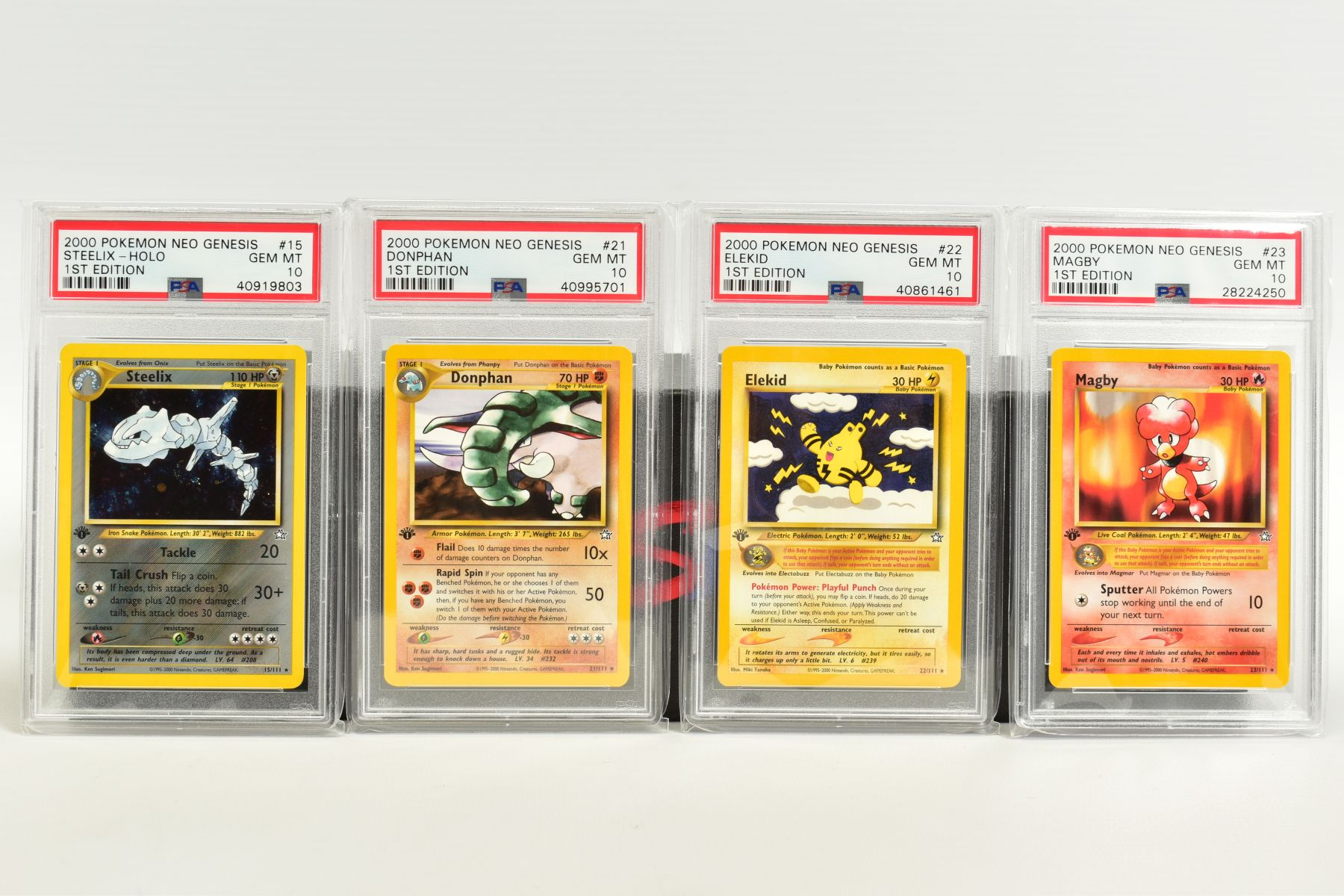 A QUANTITY OF PSA GRADED POKEMON 1ST EDITION NEO GENESIS SET CARDS, all are graded GEM MINT 10 and - Image 2 of 24