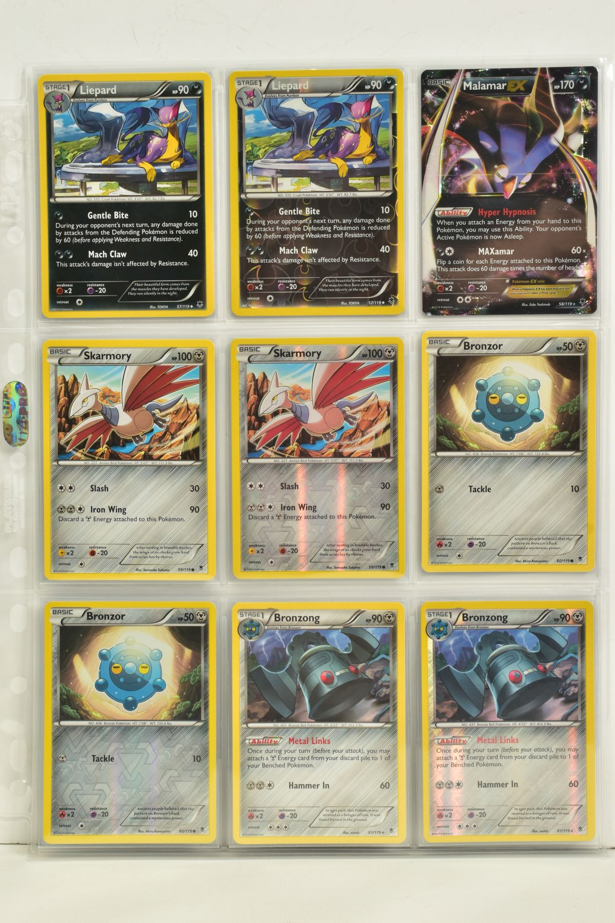 A COLLECTION OF ASSORTED POKEMON CARDS, to include complete master sets of XY Phantom Forces, XY - Image 64 of 101