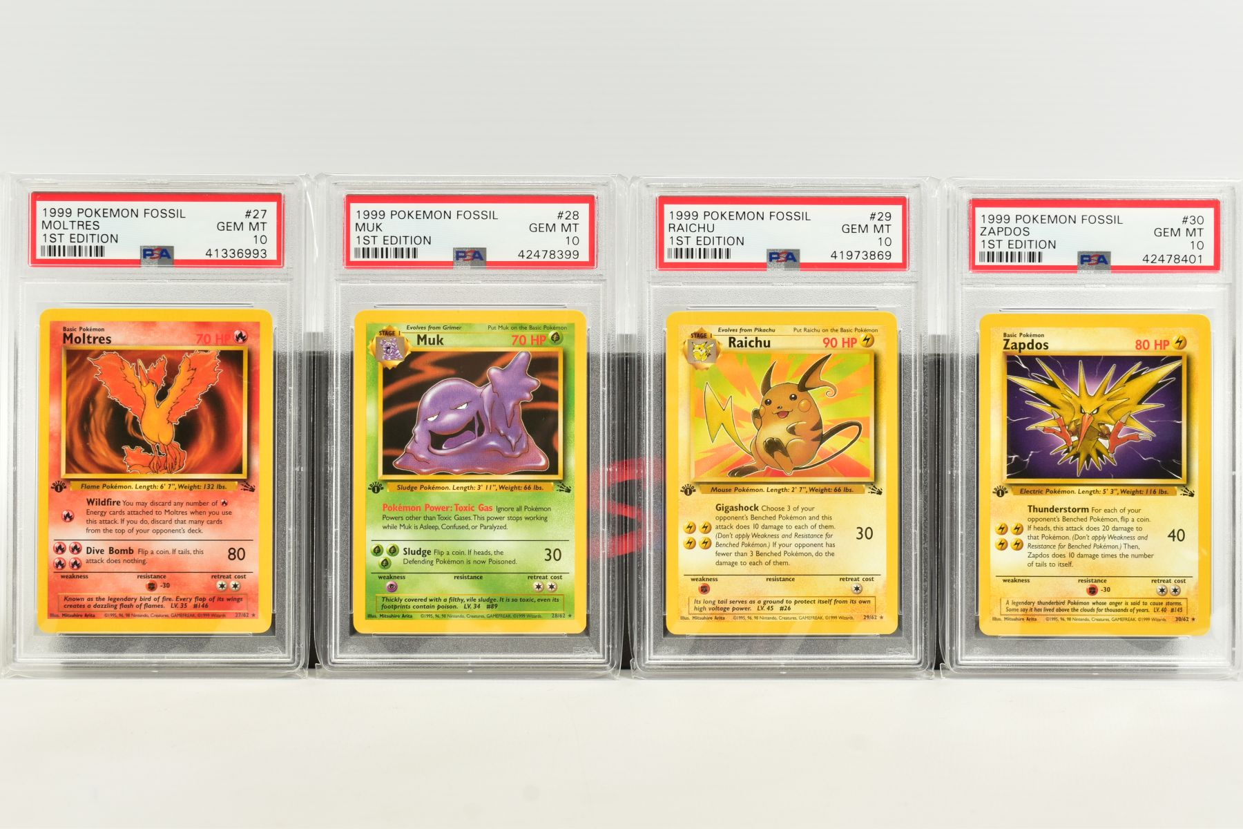 A QUANTITY OF PSA GRADED POKEMON 1ST EDITION FOSSIL SET CARDS, assorted cards between numbers 3 - Image 6 of 8
