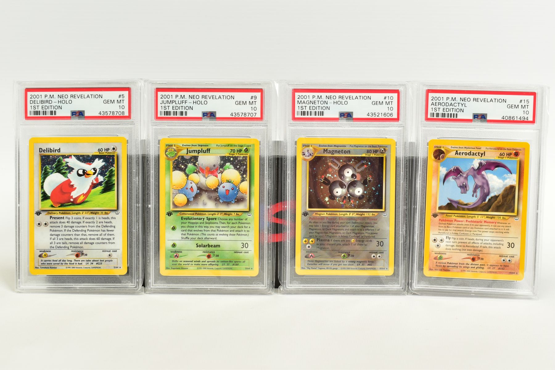 A QUANTITY OF PSA GRADED POKEMON 1ST EDITION NEO REVELATION SET CARDS, all are graded GEM MINT 10 - Image 2 of 14