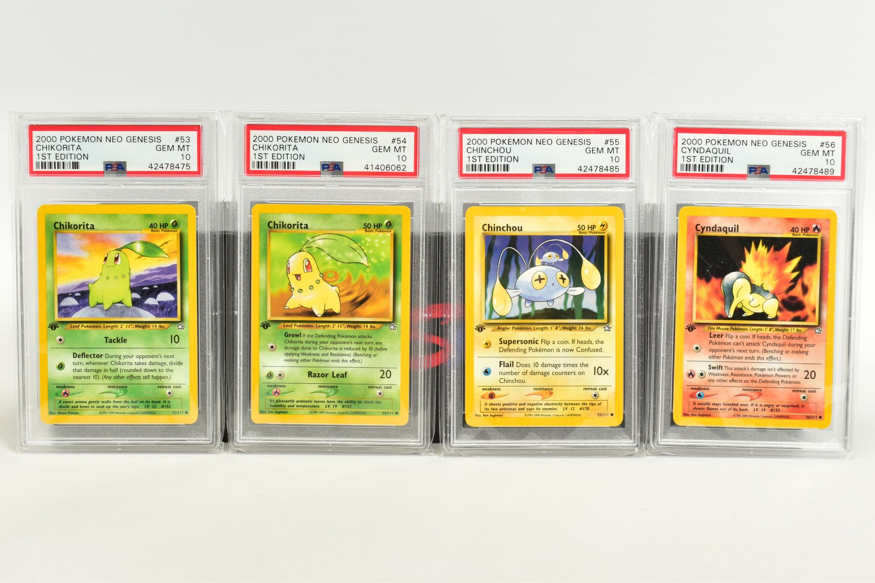 A QUANTITY OF PSA GRADED POKEMON 1ST EDITION NEO GENESIS SET CARDS, all are graded GEM MINT 10 and - Image 10 of 24