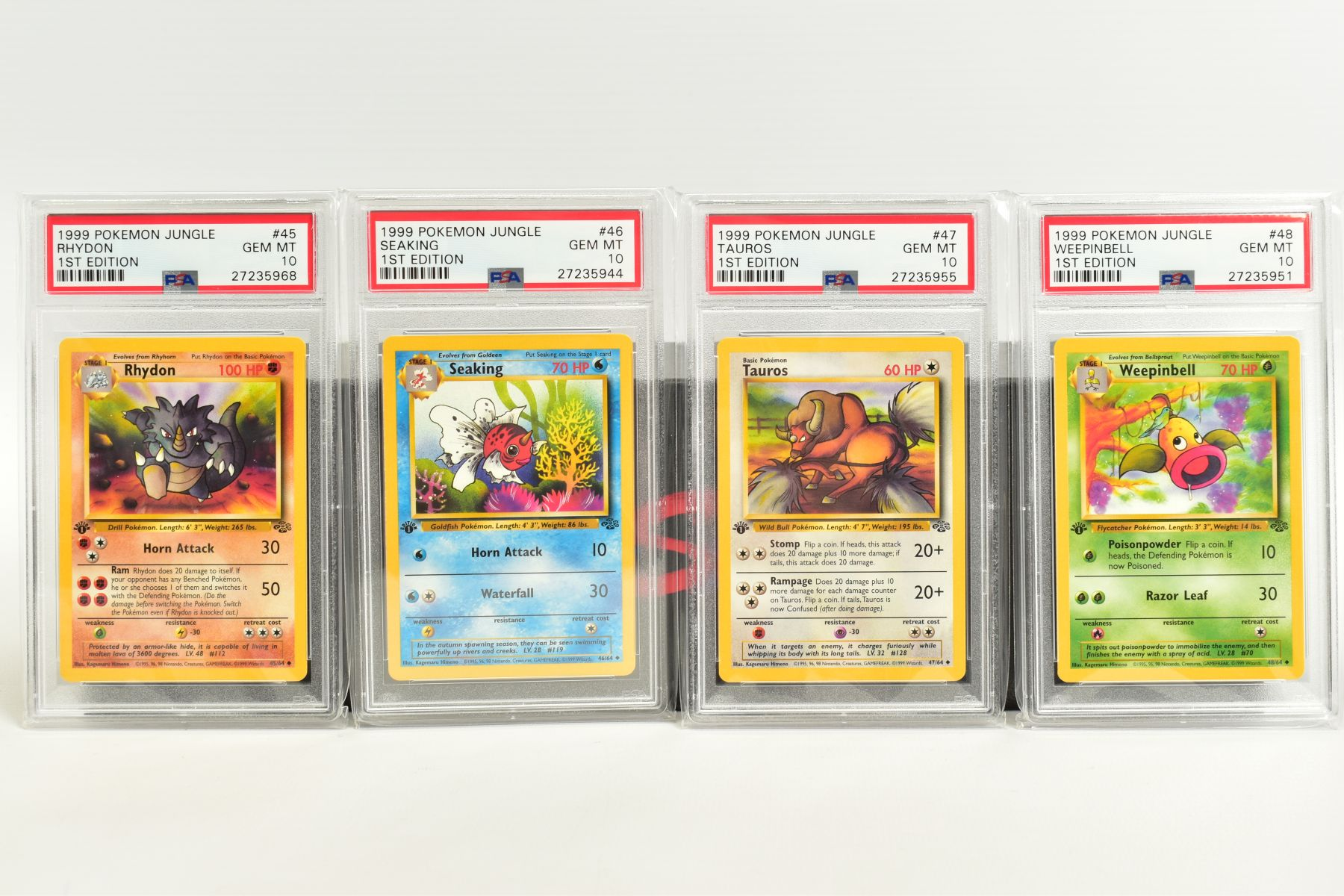 A QUANTITY OF PSA GRADED POKEMON 1ST EDITION JUNGLE SET CARDS, all are graded GEM MINT 10 and are - Image 9 of 13
