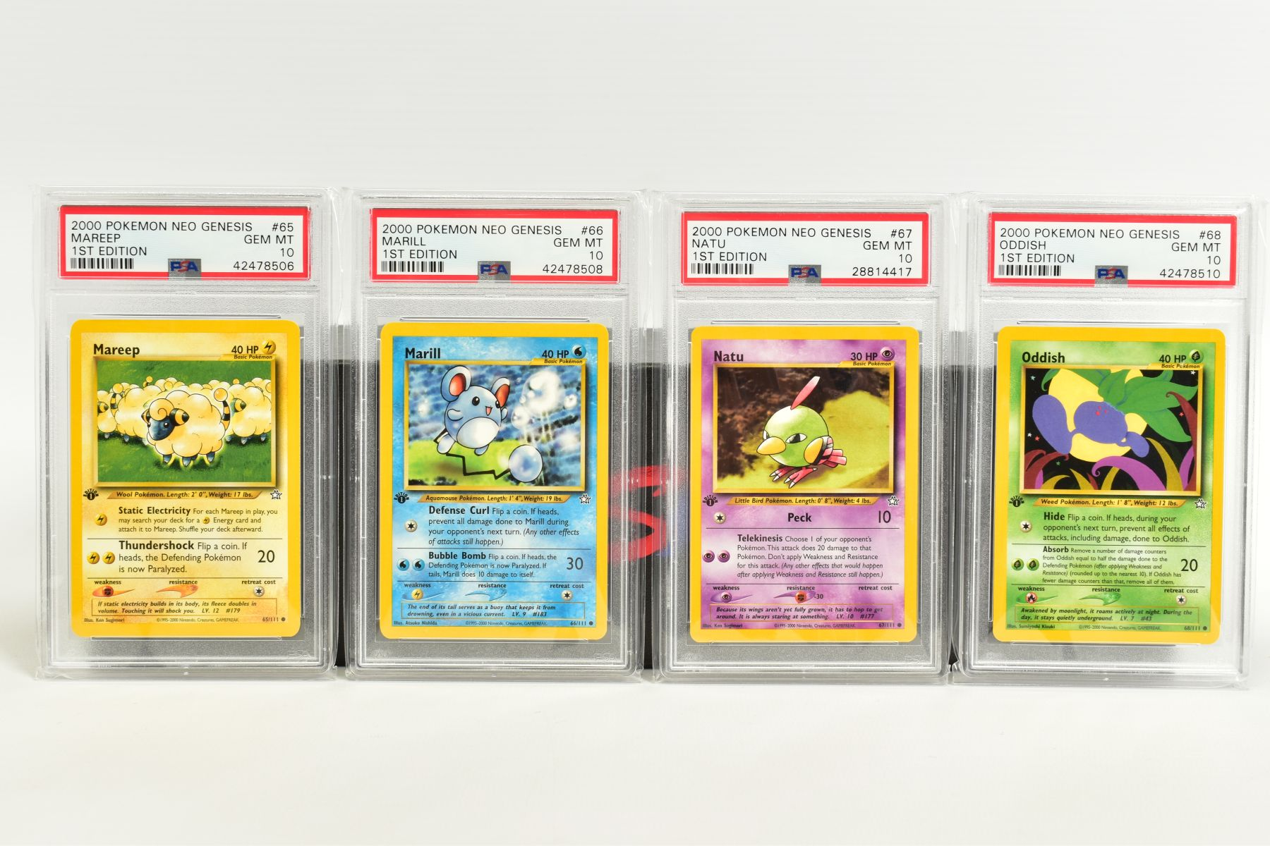 A QUANTITY OF PSA GRADED POKEMON 1ST EDITION NEO GENESIS SET CARDS, all are graded GEM MINT 10 and - Image 13 of 24