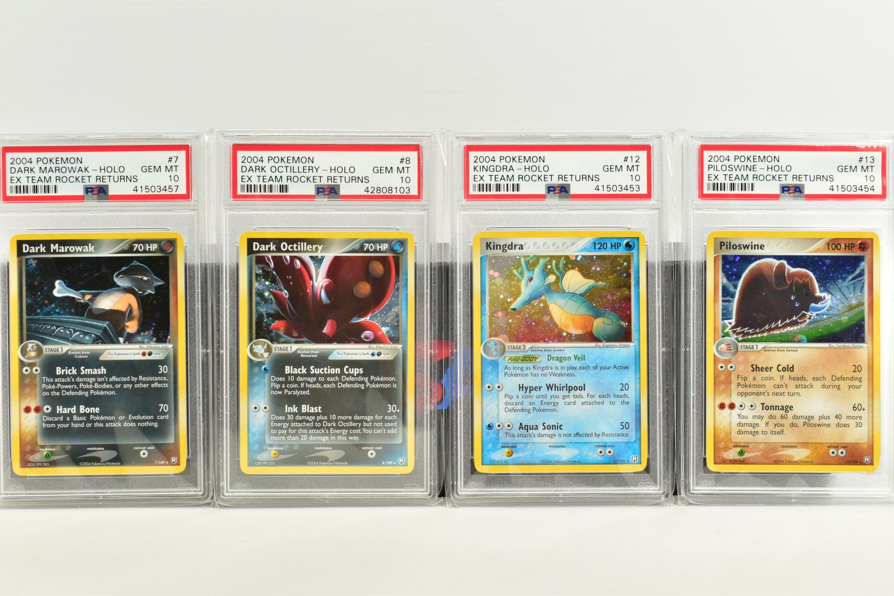 A QUANTITY OF PSA GRADED POKEMON EX TEAM ROCKET RETURNS AND EX RUBY & SAPPHIRE SET CARDS, all are - Image 2 of 15