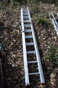 A LYTE INDUSTRIES ALUMINIUM TRIPLE EXTENSION LADDER, closed length 3.3m extended length 8.5m with