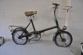 A VINTAGE RALEIGH RSW16 BIKE with Dynamo front wheel powering front and rear light, three speed
