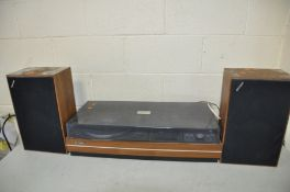 A VINTAGE SHARP SG-315E MUSIC CENTRE with two speakers (PAT pass and working except Tape player)