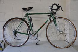 AN OVERPAINTED GENTS RACING BIKE with 13ins frame, 26ins wheels, Supino Crank, Bluemels Mudguard,