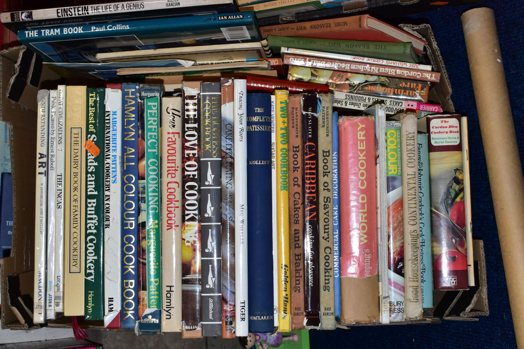 FIVE BOXES OF BOOKS, hardbacks and paperbacks, subjects include cookery, history, Puffin and Pelican - Image 2 of 6