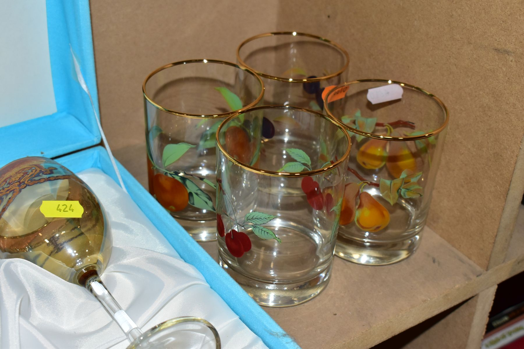 A GROUP OF GLASSWARE, including a boxed set of six Crystallera F.lli Fumo wine glasses, one set - Image 11 of 11