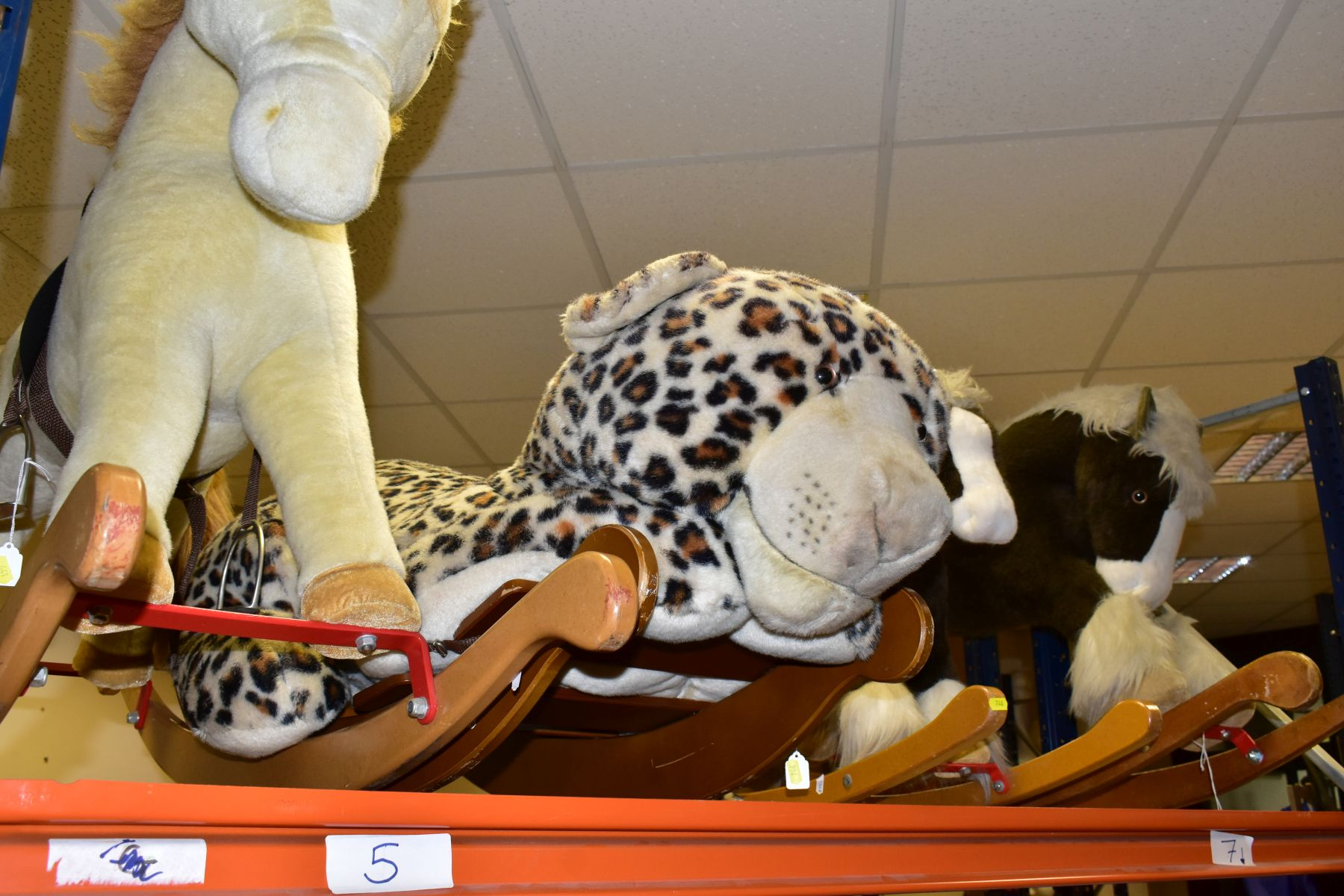 A MERRYTHOUGHT ROCKING LEOPARD, with a small Merrythought Rocking Horse, both in playworn - Image 16 of 18