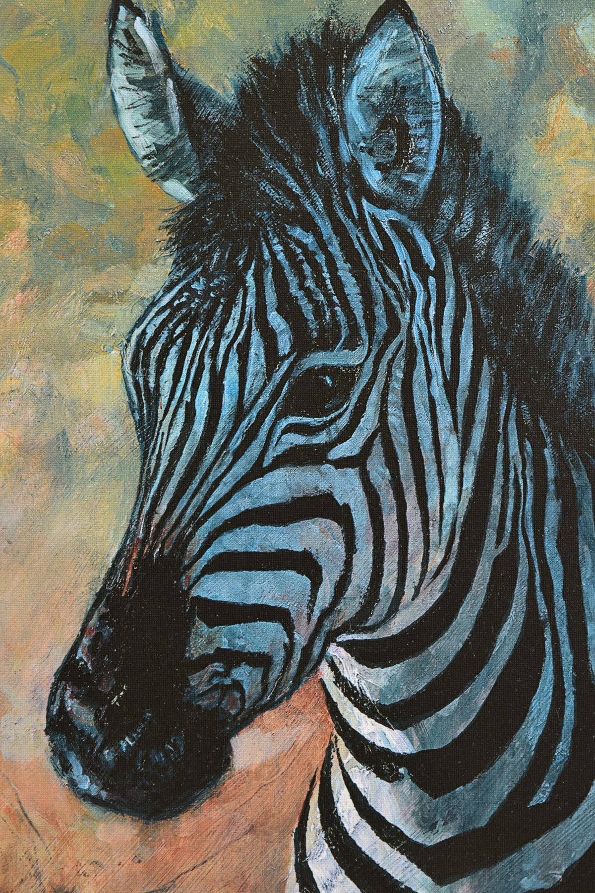 ROLF HARRIS (AUSTRALIAN 1930) 'YOUNG ZEBRA' a limited edition print 49/195, signed top right, no - Image 2 of 4