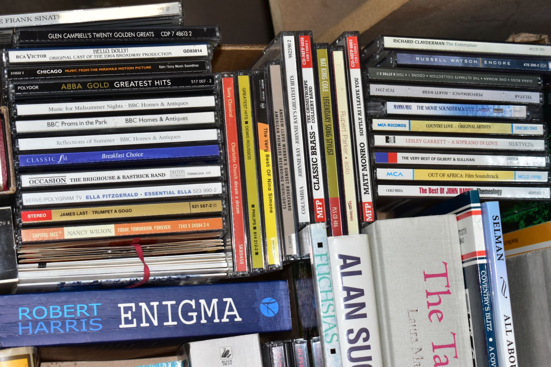 TWO BOXES OF BOOKS AND CDS including cookery interest, gardening interest, novels, etc, Ward - Image 4 of 4