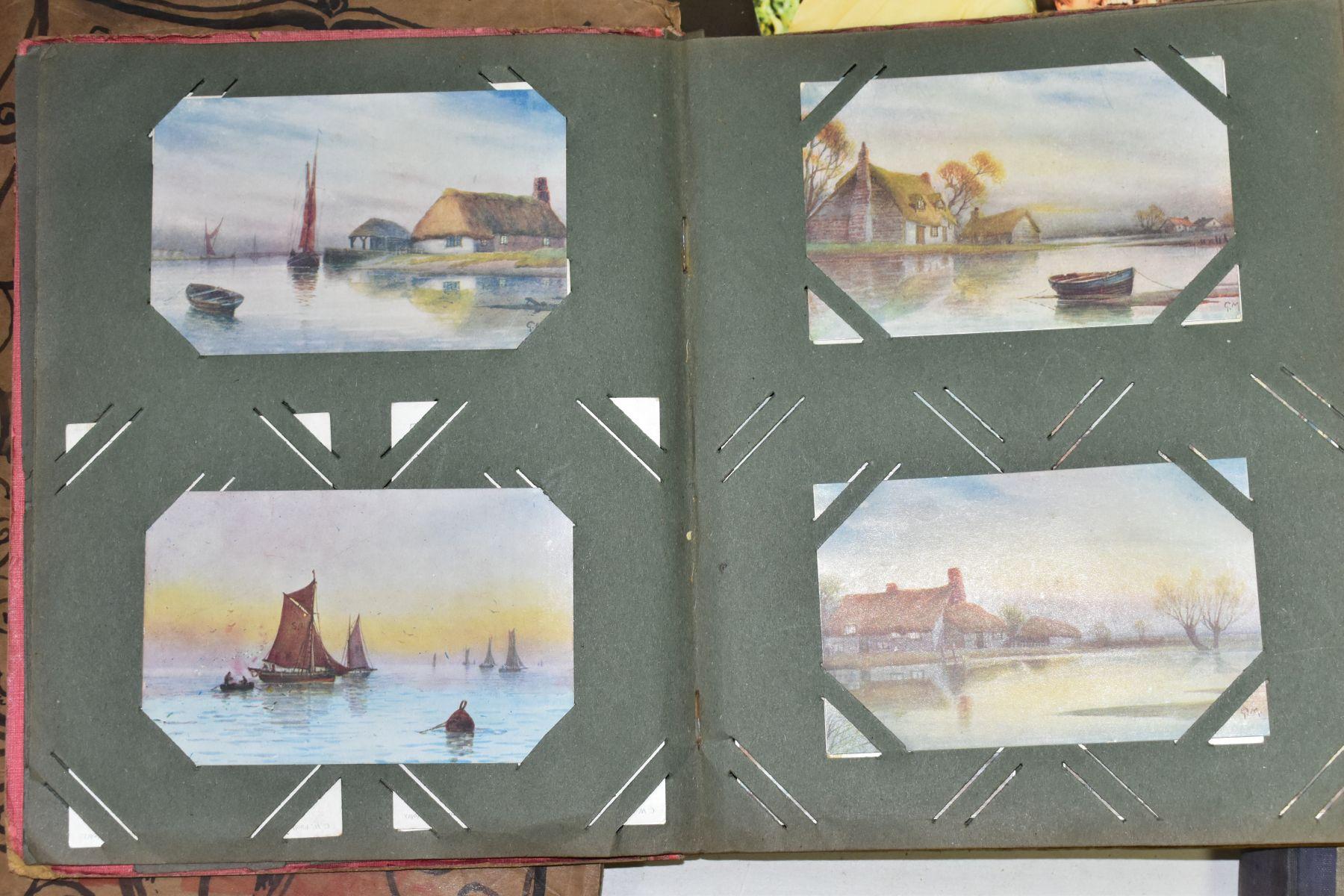 EPHEMERA, once box containing three Edwardian Postcard Albums (approximately 325 postcards), to - Image 11 of 23