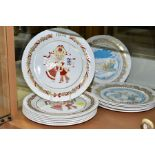 THIRTEEN SPODE CHRISTMAS PLATES, comprising 1974 (x 2), 1976-1980 with boxes, and Christmas Pastimes