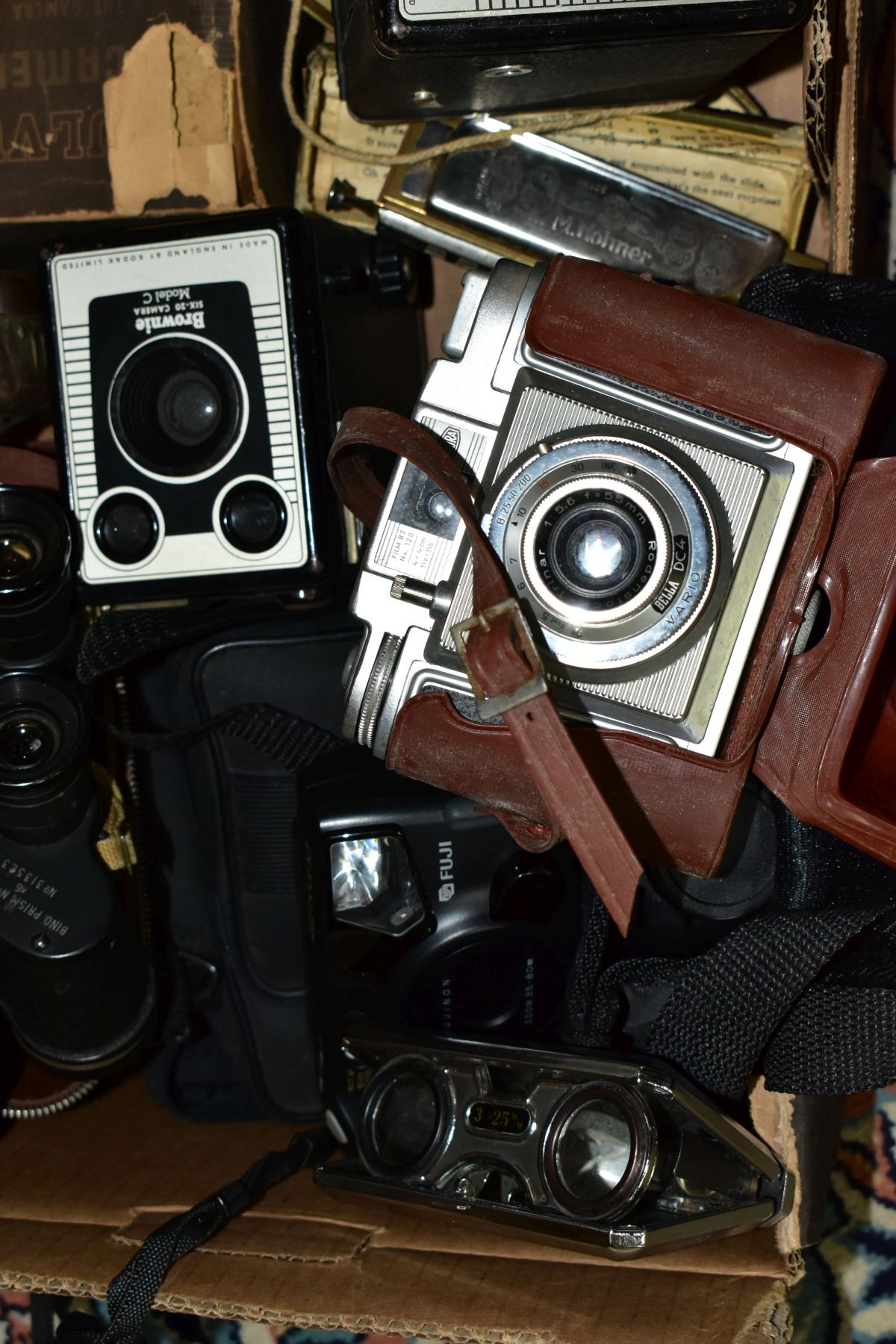 BINOCULARS, CAMERAS AND TYPEWRITER, ETC, to include a pair of Kershaw military prism No.2 MKIII - Image 5 of 9
