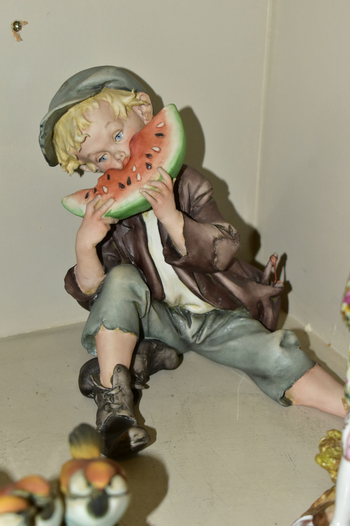 CAPODIMONTE to include a Tramp on a Bench Feeding a Squirrel, modelled by Bruno Merli, approximate - Image 5 of 7