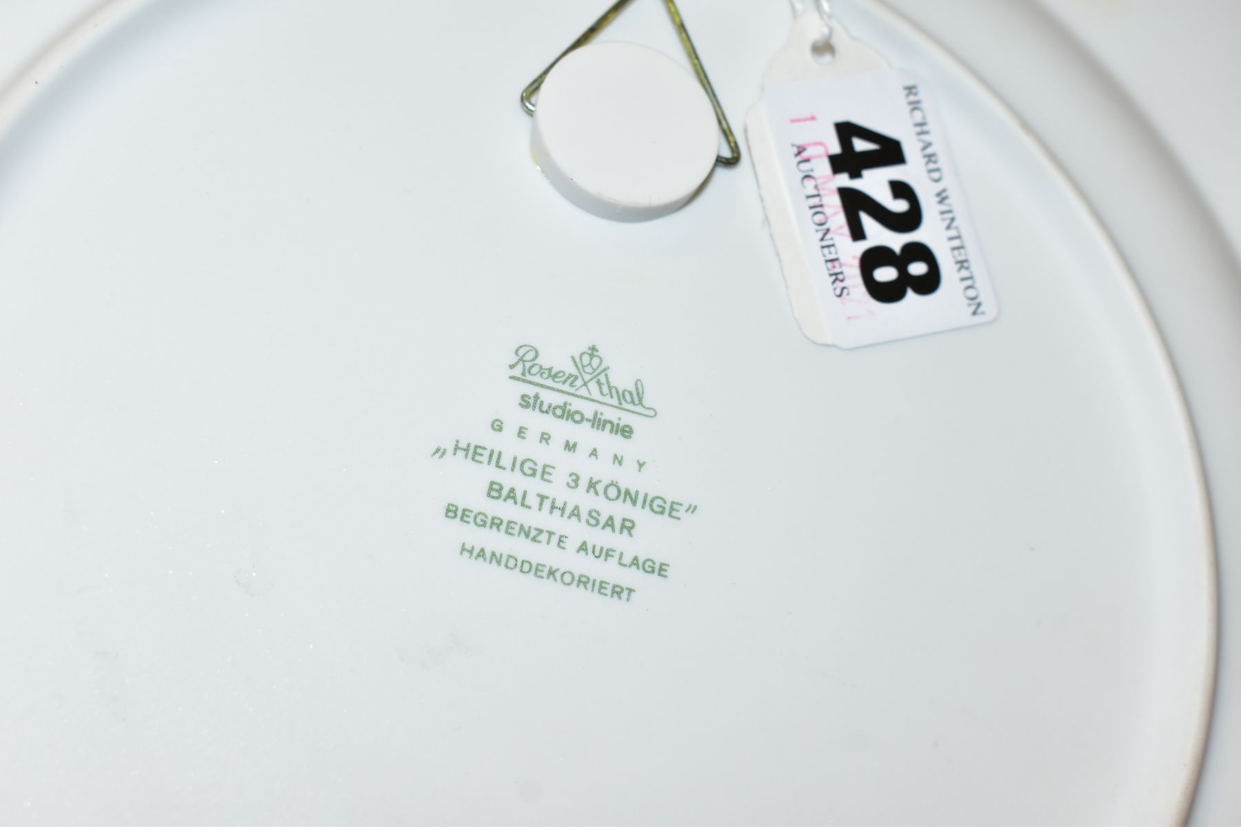 THREE BOXED ROSENTHAL CHRISTMAS PLATES, 1973, 1974 and 1975 all signed by Bijorn Wiinbald - Image 10 of 12
