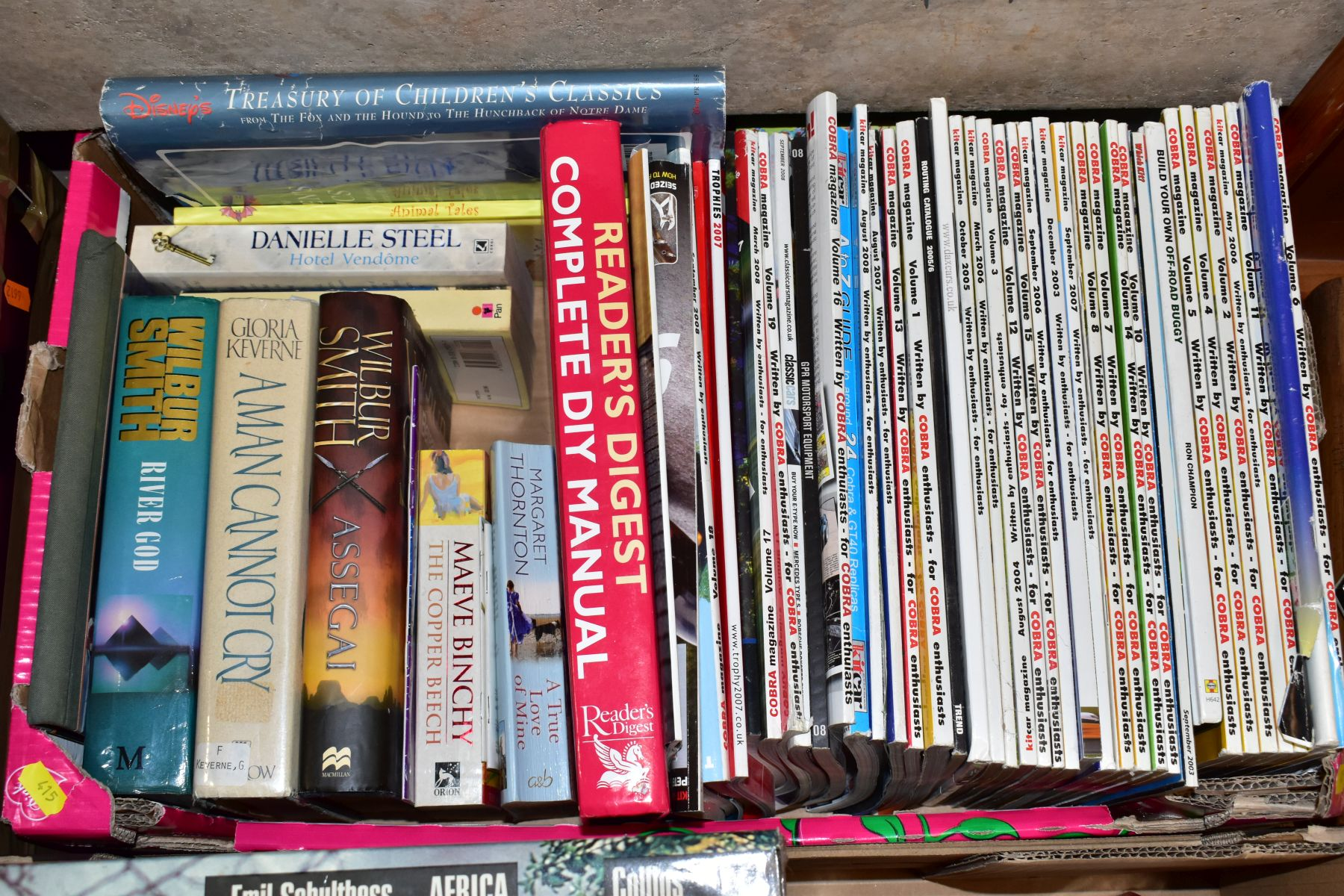 SEVEN BOXES OF ASSORTED BOOKS, including novels, cookery books, DIY books, motoring interest etc, - Image 3 of 8