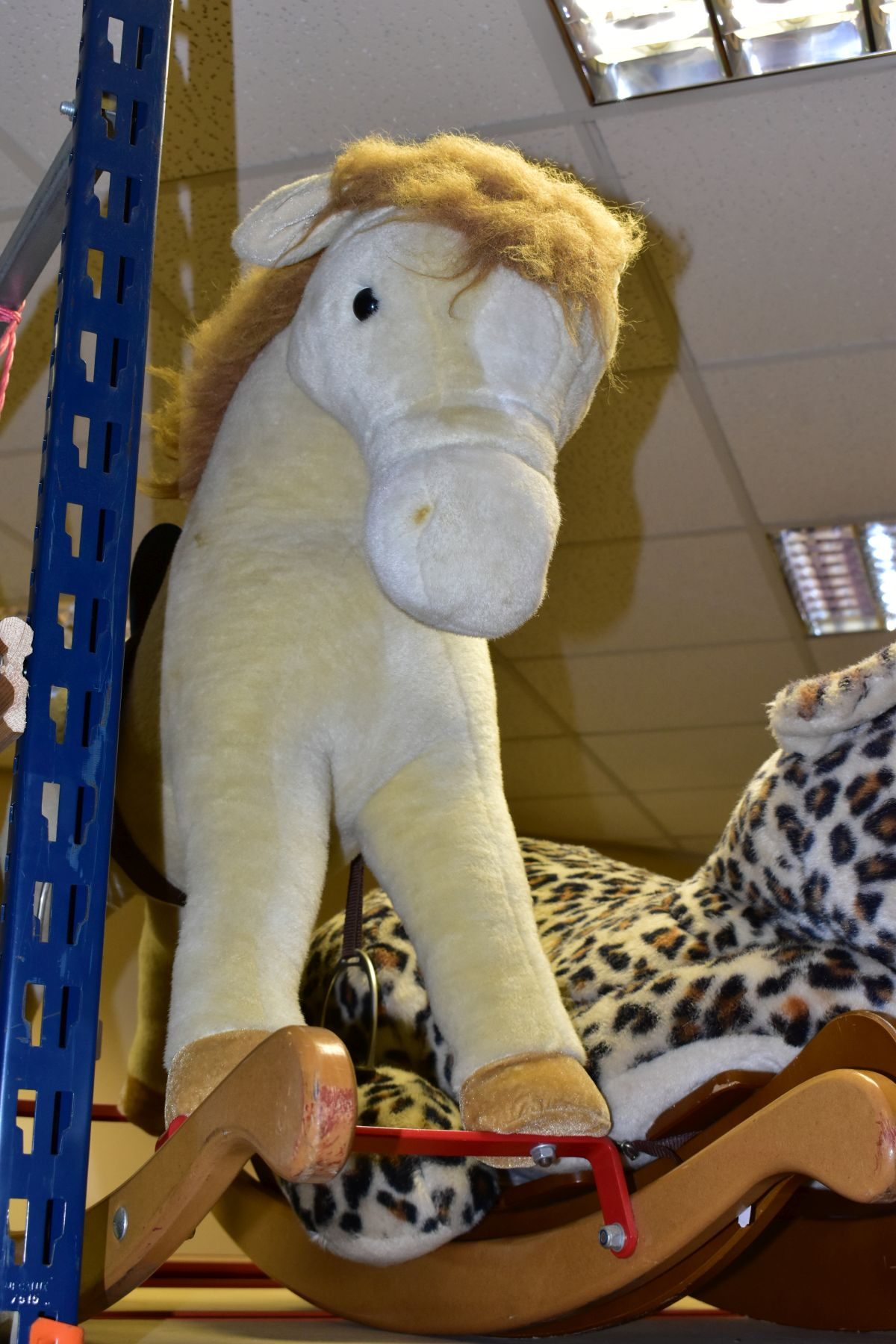 A MERRYTHOUGHT ROCKING LEOPARD, with a small Merrythought Rocking Horse, both in playworn - Image 15 of 18