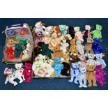 TWO BOXES OF ASSORTED TY BEANIE BABIES, majority with tags, includes Platinum Membership case,