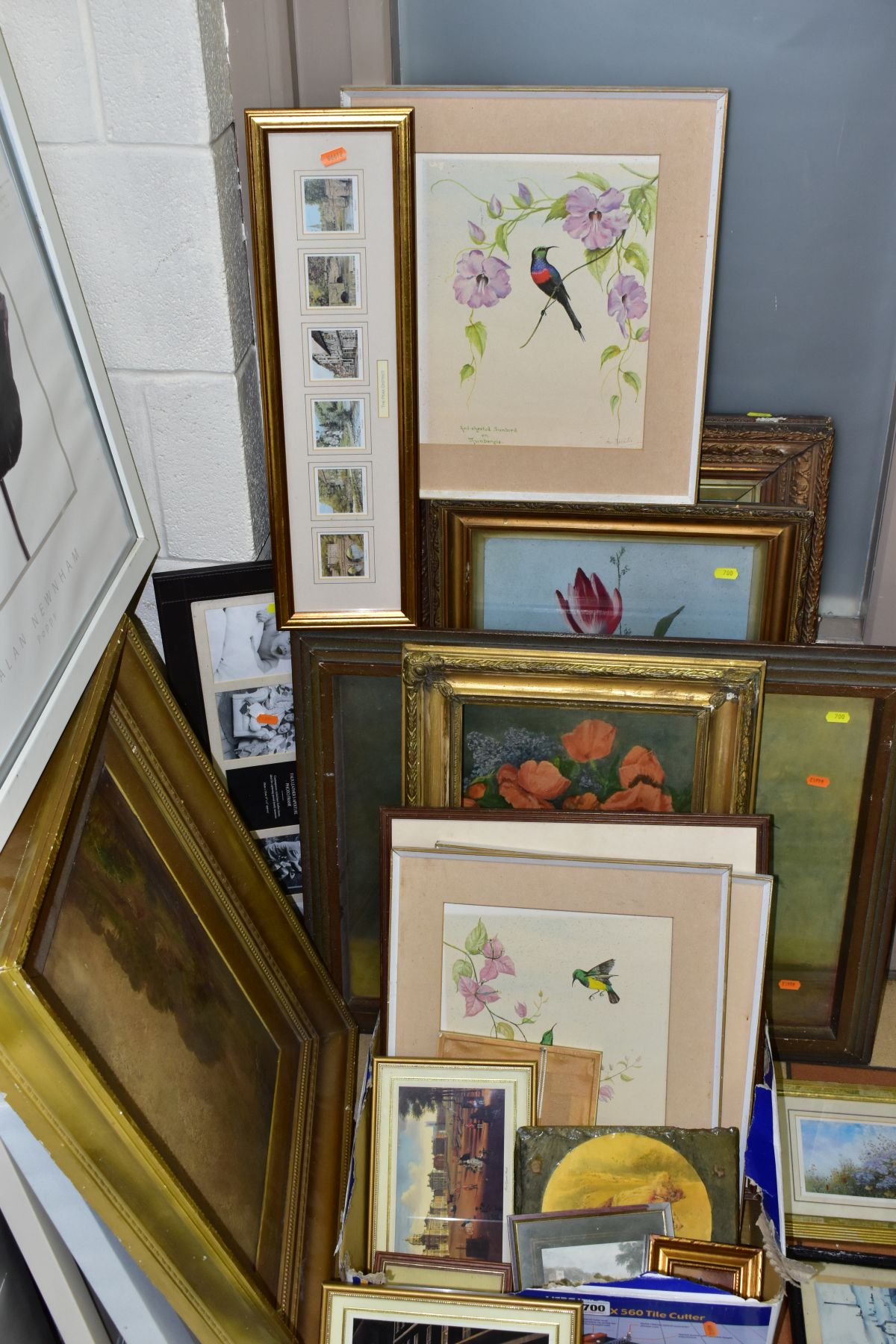 PAINTINGS AND PRINTS, to include an unsigned oil on board circa late 19th/early 20th century, - Image 2 of 5