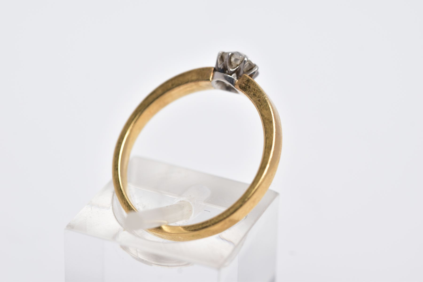 A DIAMOND SINGLE STONE RING, an old cut diamond, estimated weight 0.30ct, colour assessed as H-I, - Image 3 of 3