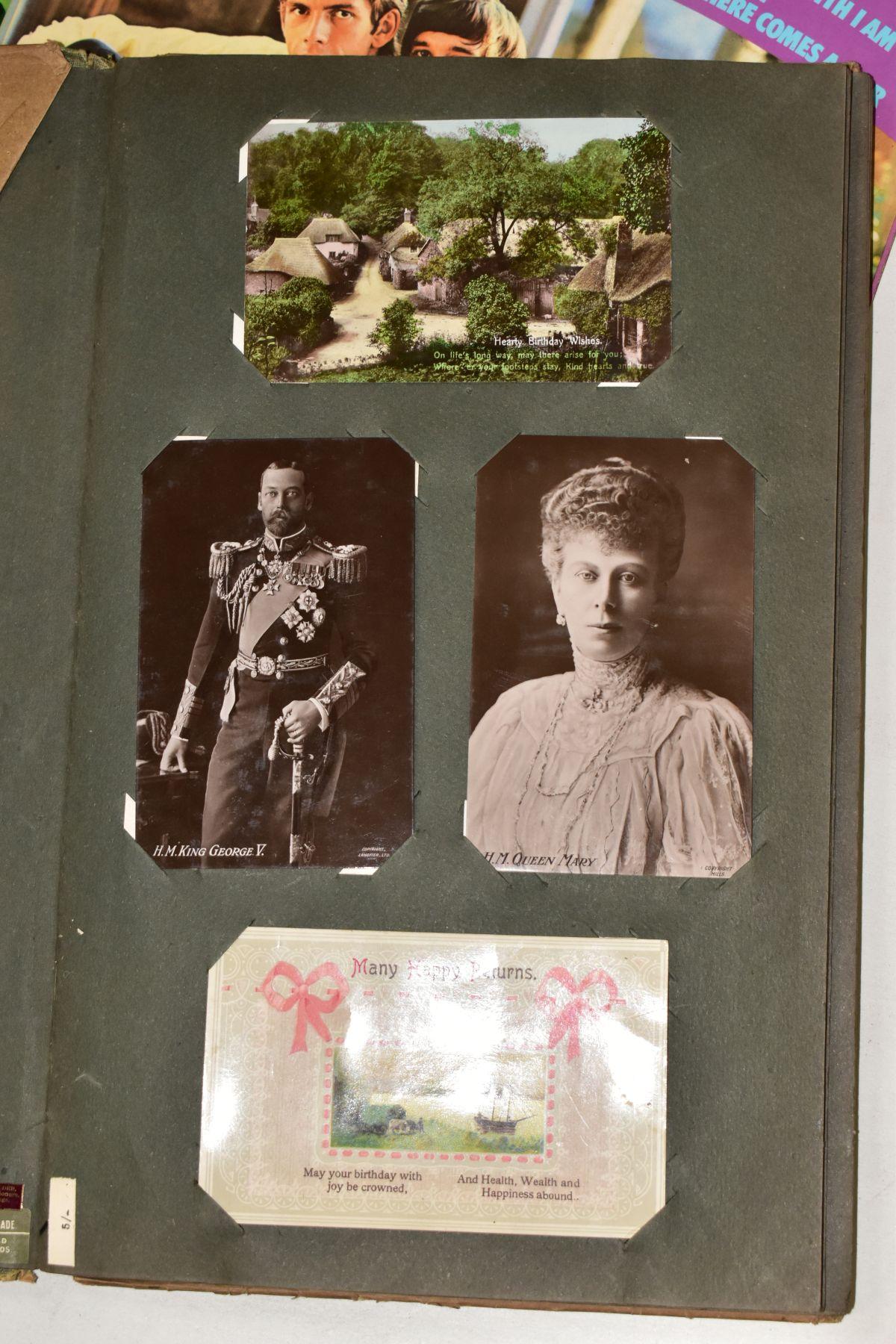 EPHEMERA, once box containing three Edwardian Postcard Albums (approximately 325 postcards), to - Image 20 of 23
