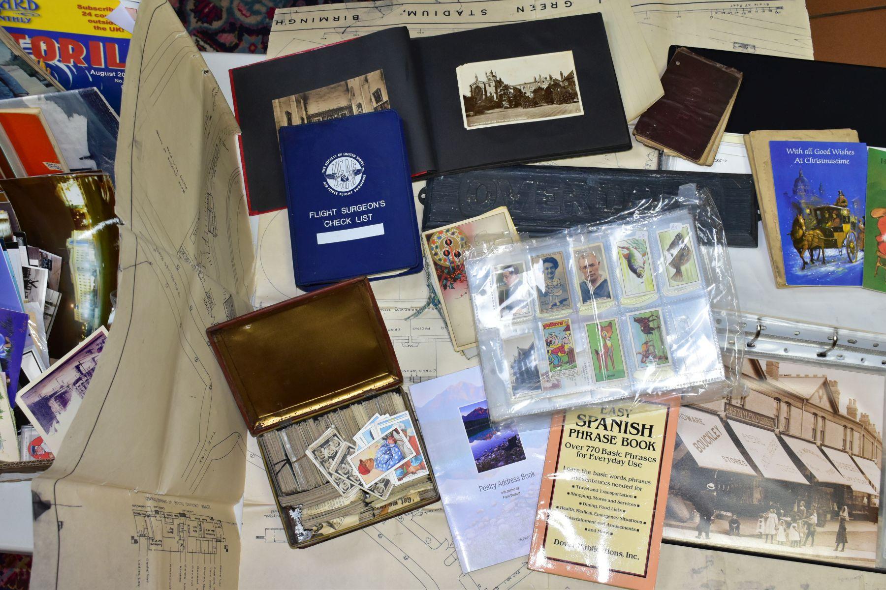 EPHEMERA, three boxes of ephemera, box one includes books, programmes, horse racing passes, Aston - Image 5 of 7