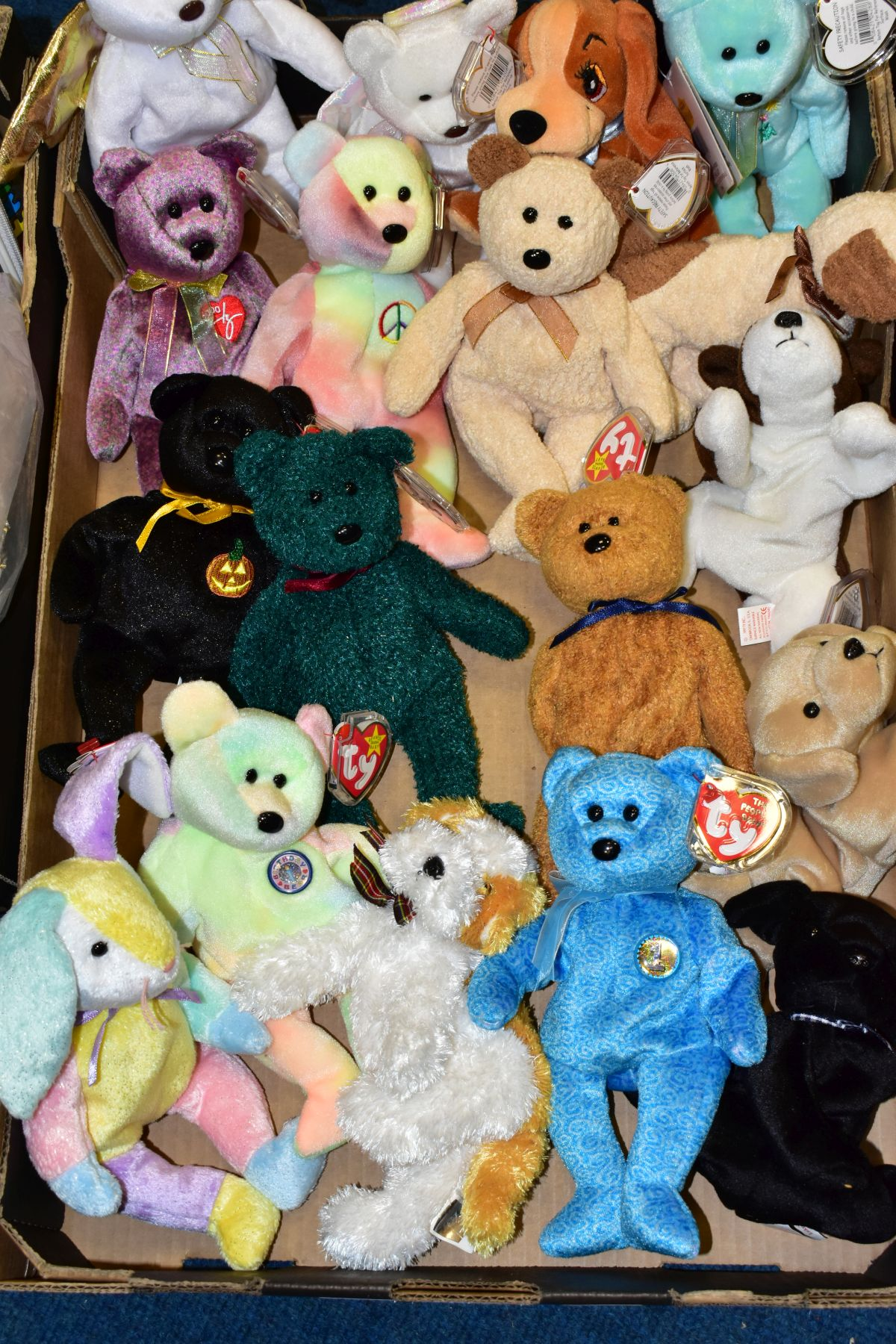TWO BOXES OF ASSORTED TY BEANIE BABIES, majority with tags, includes Platinum Membership case, - Image 5 of 7