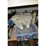 A QUANTITY OF ASSORTED STAR WARS FIGURES AND VEHICLES, figures are mainly Chinese Hasbro figures