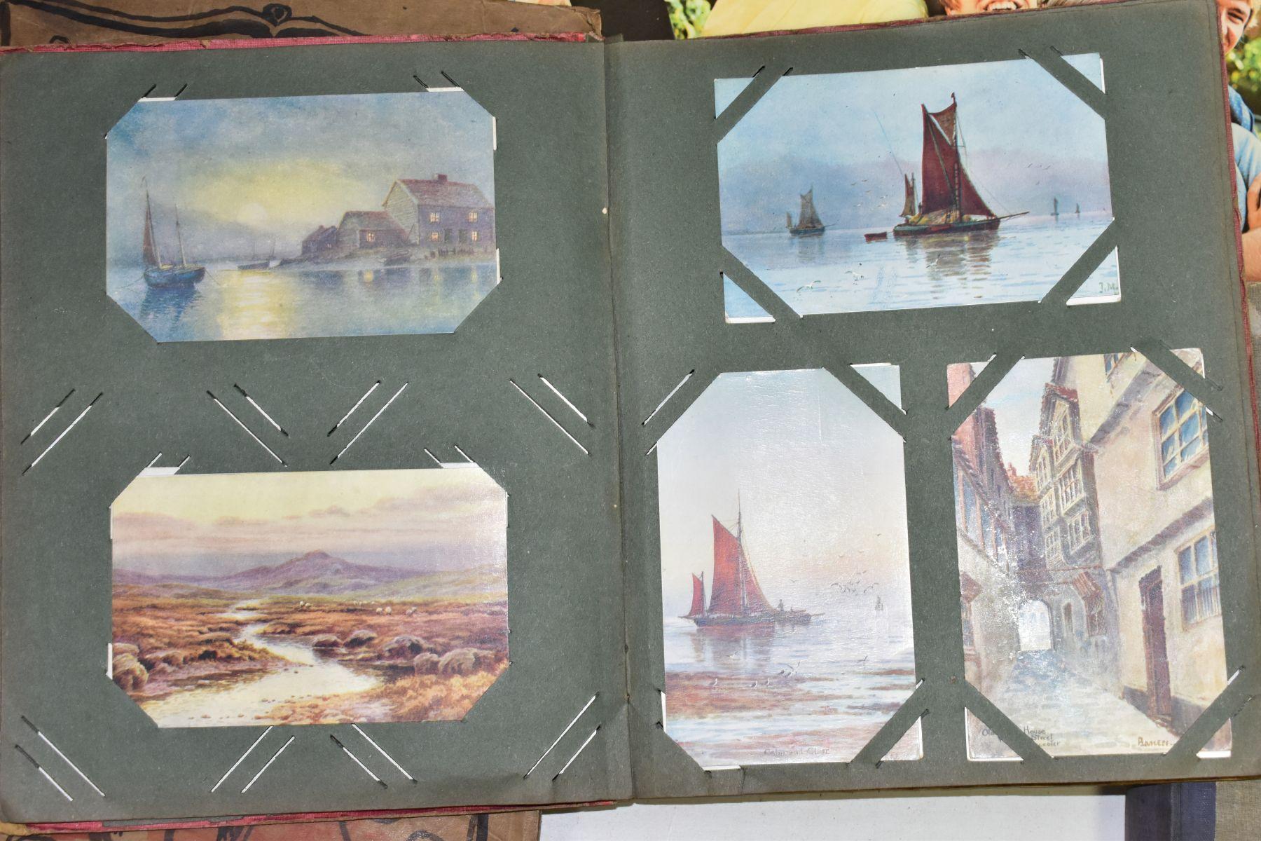 EPHEMERA, once box containing three Edwardian Postcard Albums (approximately 325 postcards), to - Image 12 of 23