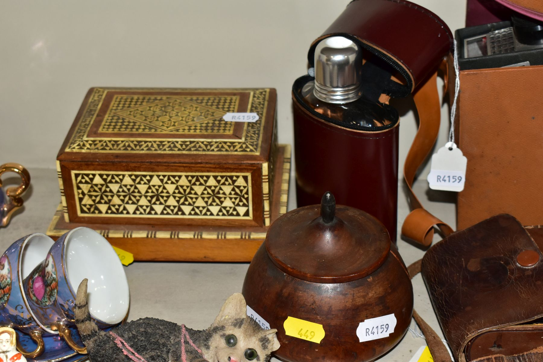 VARIOUS SUNDRY ITEMS, CONTINENTAL LUSTRE COFFEE SET, ETC, to include a Veleon tripod in carry - Image 5 of 10