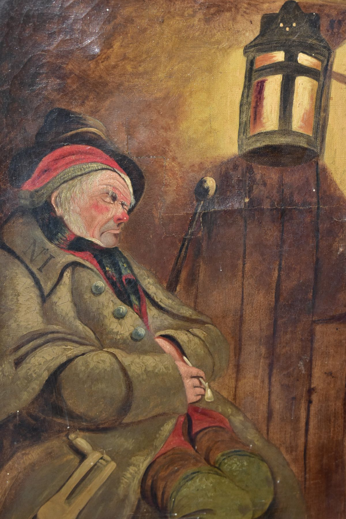 PAINTINGS AND PRINTS, ETC, to include an unsigned oil on canvas depicting a sleeping night watchman, - Image 3 of 7
