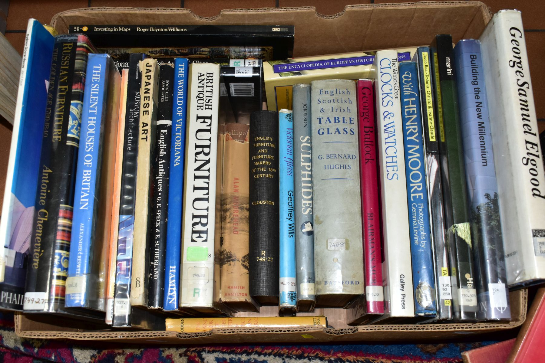 BOOKS, three boxes containing approximately sixty two titles including Reference, Furniture, - Image 4 of 4