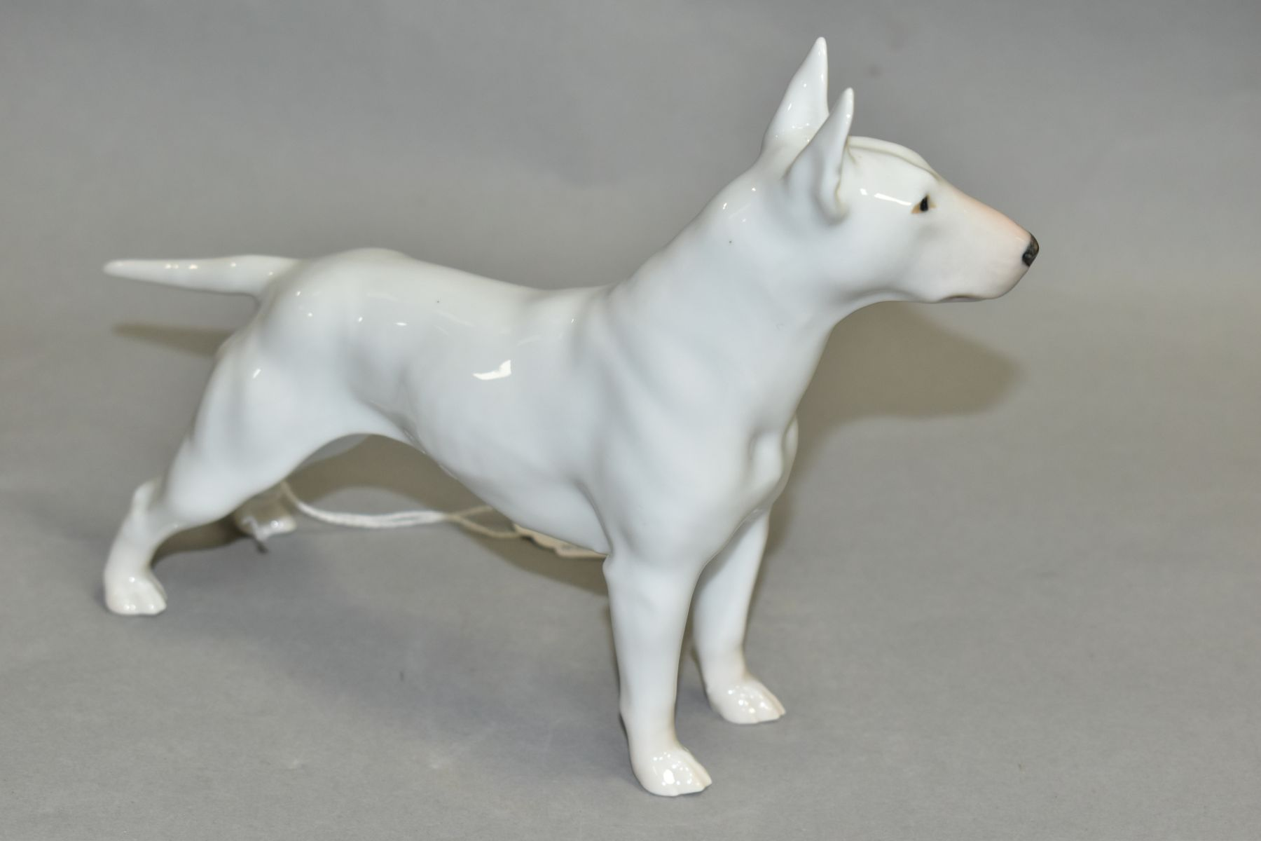 A ROYAL COPENHAGEN BULL TERRIER, white, No 3280, height 14cm x length 20cm (Condition:- appears ok) - Image 2 of 5