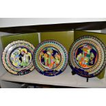 THREE BOXED ROSENTHAL CHRISTMAS PLATES, 1973, 1974 and 1975 all signed by Bijorn Wiinbald