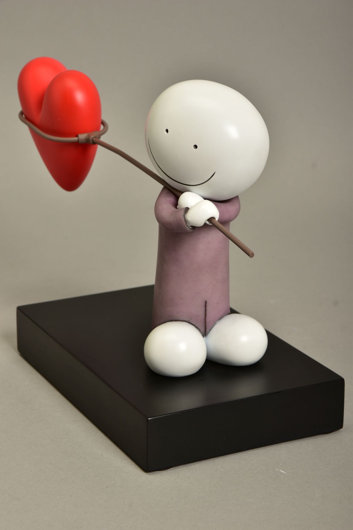 DOUG HYDE (BRITISH 1972) 'CAUGHT IN LOVE', a limited edition sculpture of a figure carrying a net - Image 4 of 5