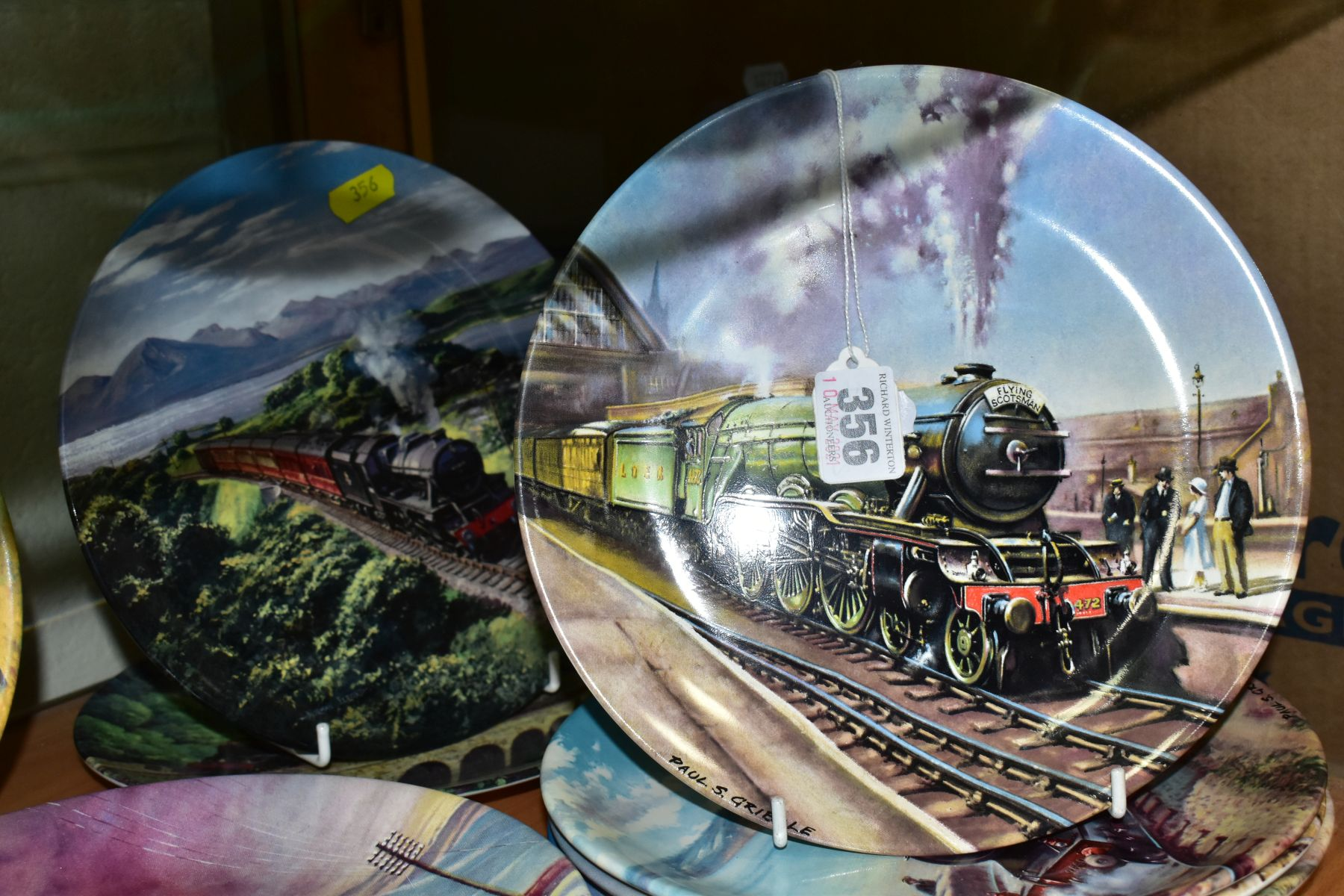 TWELVE BOXED LOCOMOTIVE THEMED COLLECTORS PLATES, comprising a set of eight Davenport Great Steam - Image 4 of 5