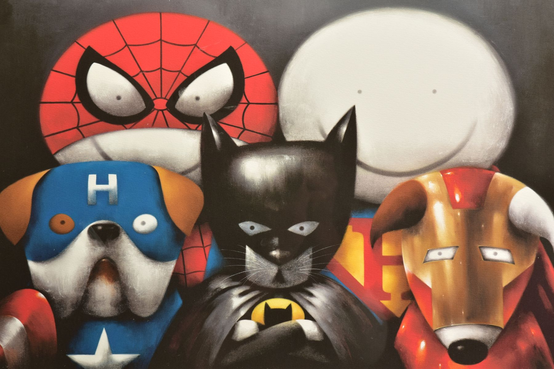 DOUG HYDE (BRITISH 1972) 'DREAM TEAM' a limited edition print of Superheroes in Disguise 213/295, - Image 2 of 6
