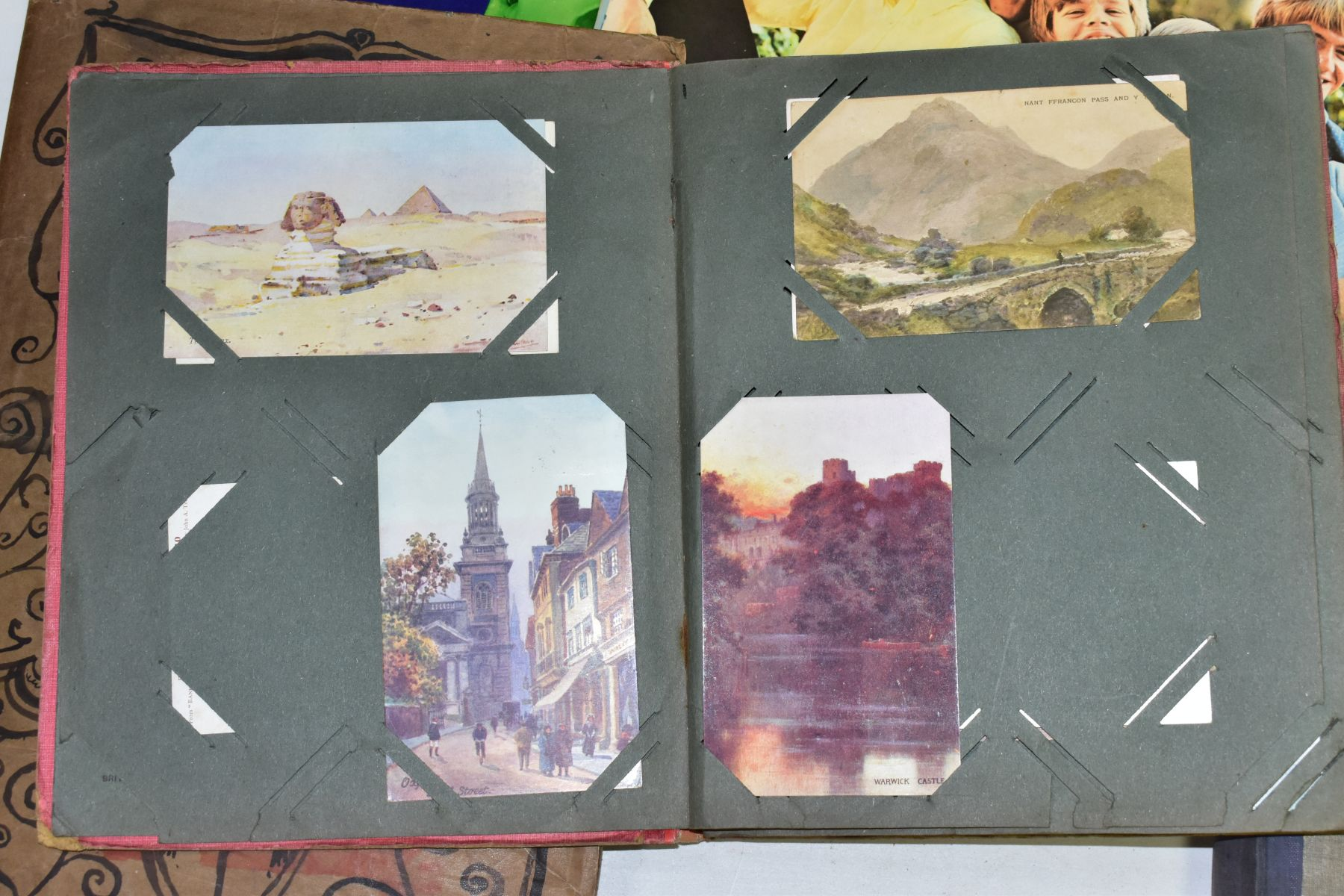 EPHEMERA, once box containing three Edwardian Postcard Albums (approximately 325 postcards), to - Image 10 of 23