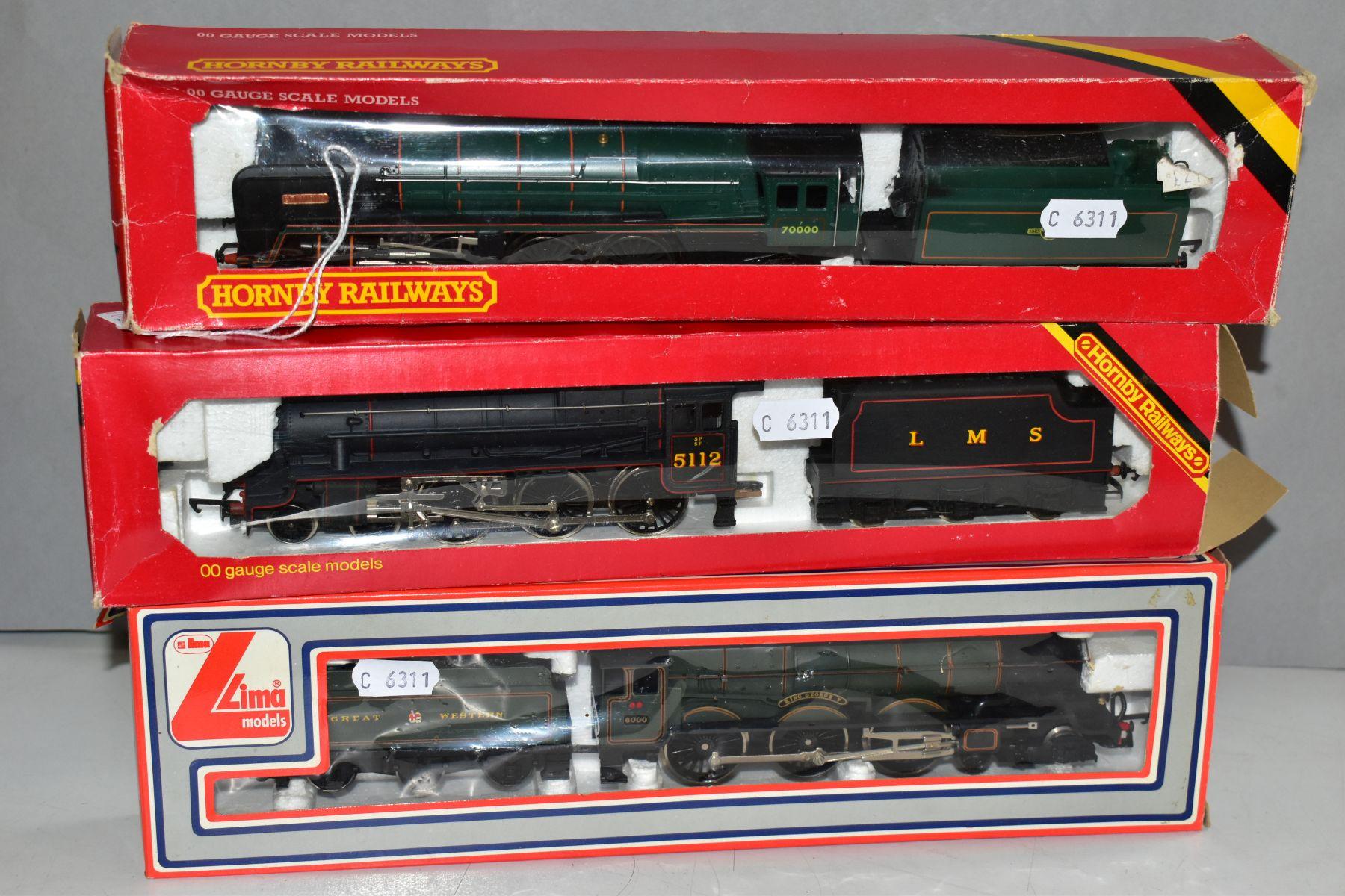 THREE BOXED 00 GAUGE MODEL RAILWAY LOCOMOTIVES, Hornby Britannia Class 'Britanna' No. 70000, B.R.