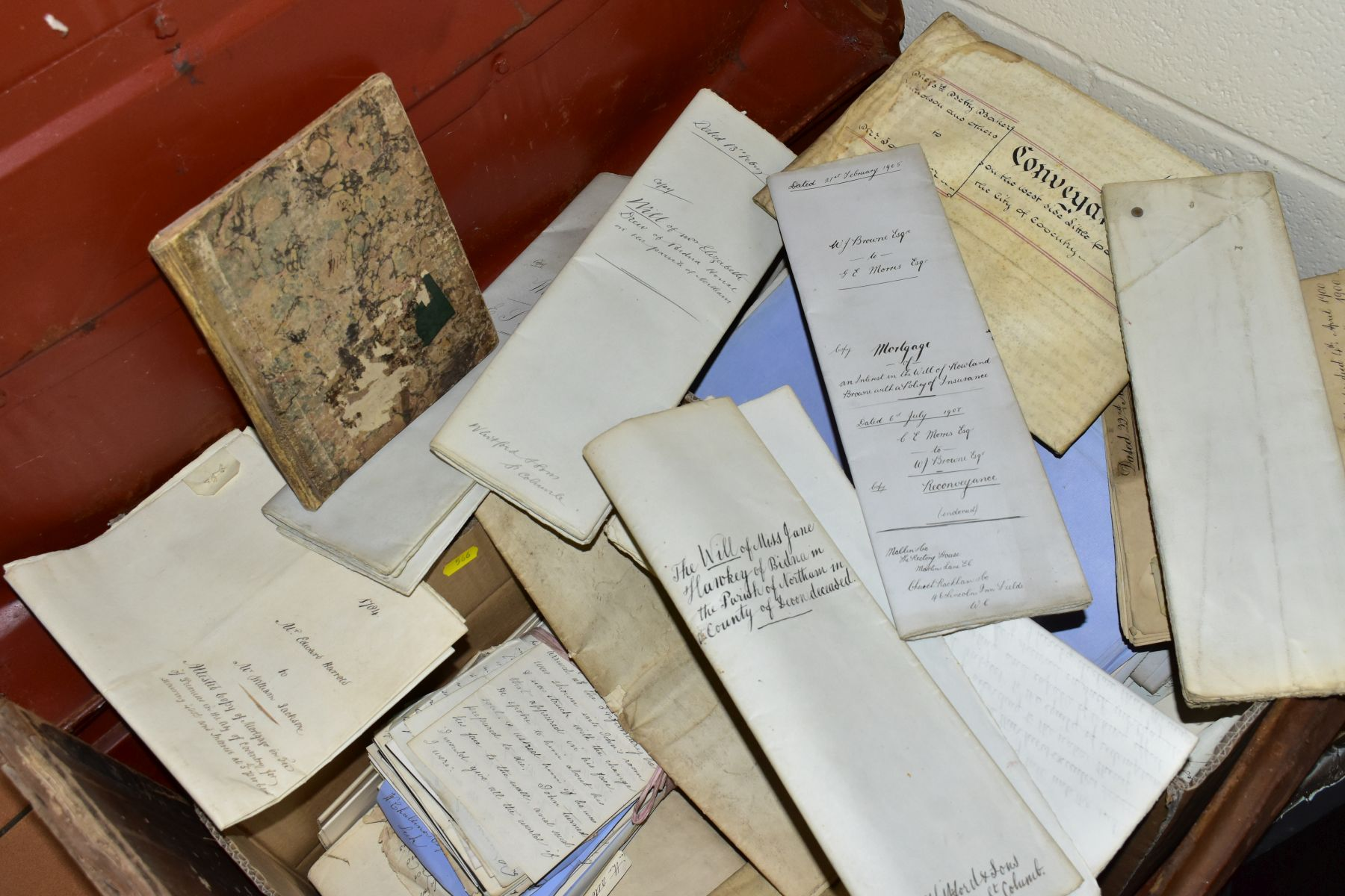 INDENTURES, a large metal trunk containing two boxes of several hundred Indentures, Conveyances, - Image 4 of 4