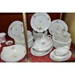 A LAFARGE & CO LIMOGES PART DINNER SERVICE comprising eleven 25cm plates (five plates are