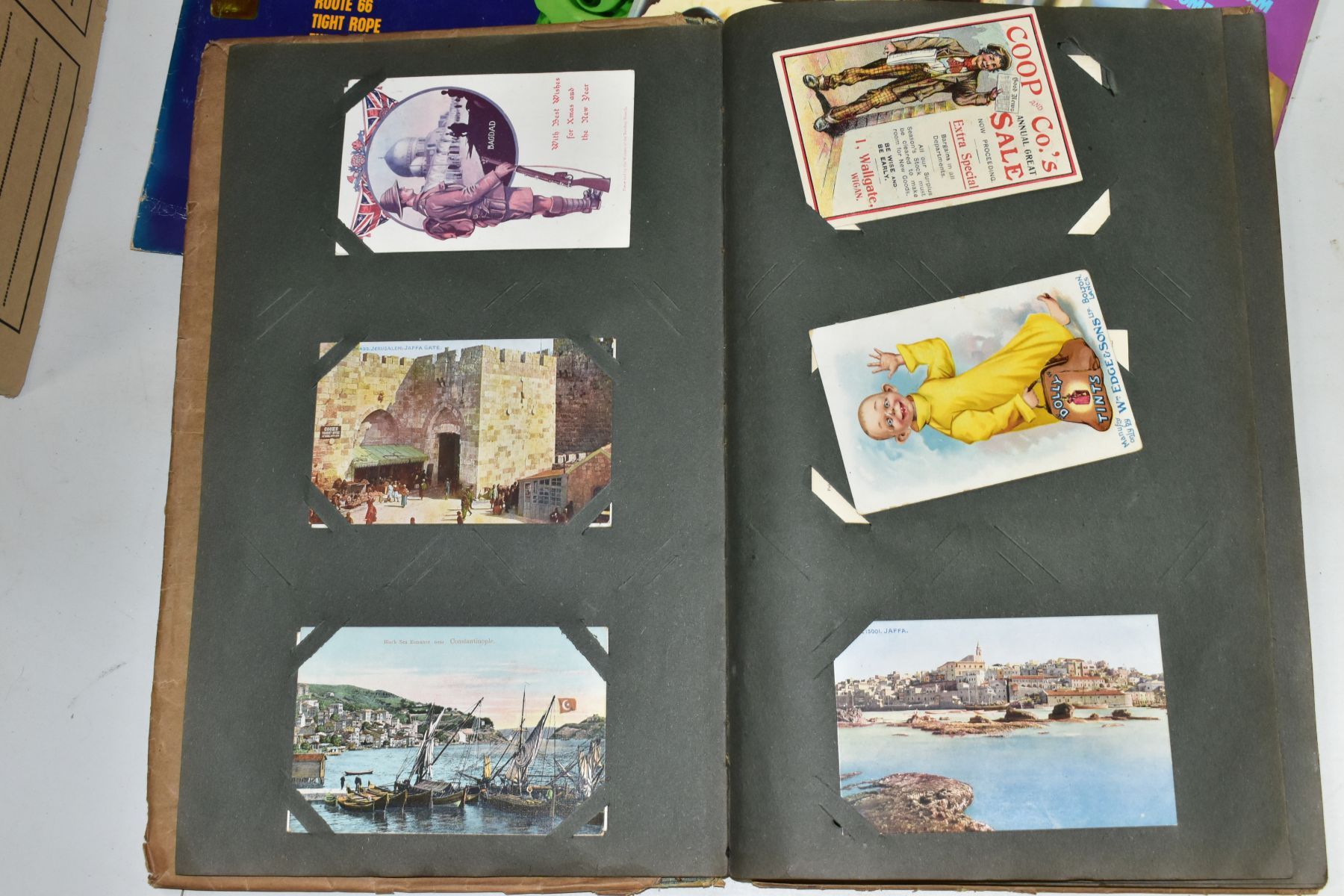 EPHEMERA, once box containing three Edwardian Postcard Albums (approximately 325 postcards), to - Image 21 of 23