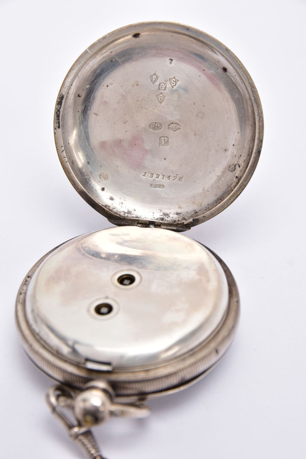 AN EARLY GEORGE V OPEN FACED SILVER POCKET WATCH, white dial signed 'Fattorini & Sons Ltd, Westgate, - Image 4 of 6