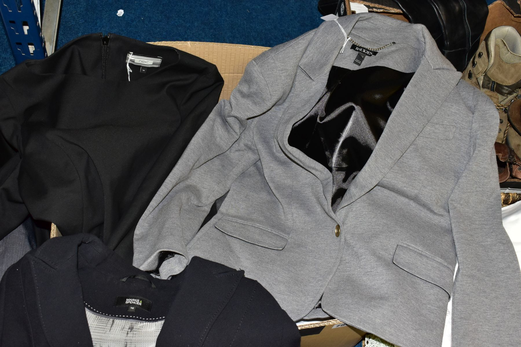 LADIES CLOTHING ETC, to include Planet trouser suit and jacket and skirt both size 12, Zara Basic - Image 7 of 9
