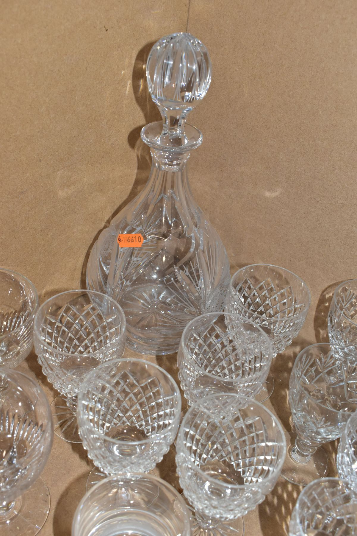A GROUP OF GLASSWARE, including a boxed set of six Crystallera F.lli Fumo wine glasses, one set - Image 5 of 11