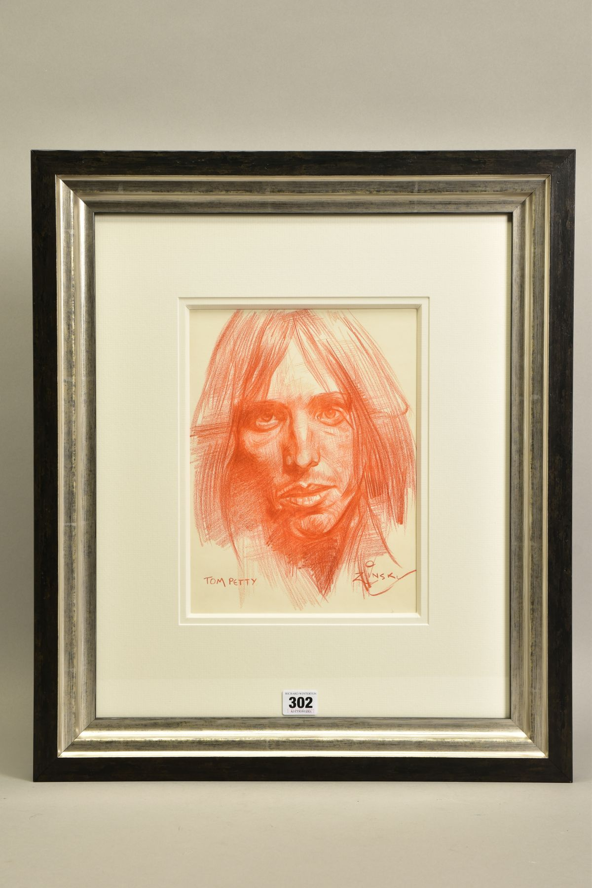 ZINSKY (BRITISH CONTEMPORARY) 'TOM PETTY' a portrait of the American rock star, signed and titled to