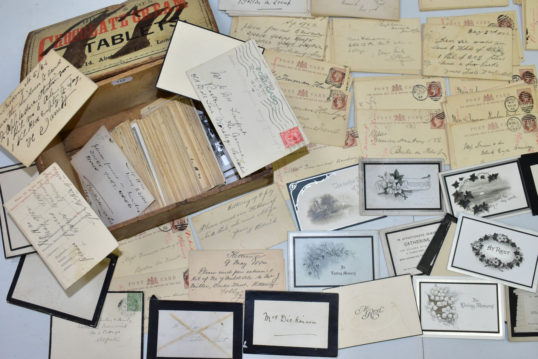 TRUMAN, HANBURY, BUXTON & CO, a collection of over three hundred postcards relating to orders for